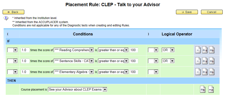 Make the Message Easy and Consistent + The ACCUPLACER platform set up allows for students to