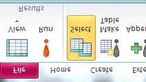 e. Following window will appear; enter the Table Name: NEWDISK and create it in the Current Database f. In the Make Table Window, Click OK. g. Now click on the RUN button in the Ribbon h.