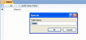 Table To save the table: Click on the Microsoft Office Button. Select Save from the menu.