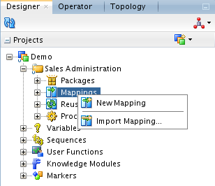 CRE_DATE Today s date SYSDATE UPD_DATE Today s date SYSDATE 4.1.3 Creating the Mapping This section describes how to create the Load TRG_CUSTOMER mapping.