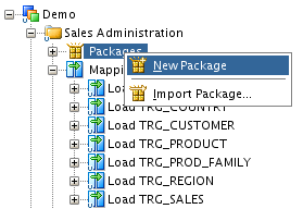 8. Load the TRG_SALES table with the Load TRG_SALES mapping Such an integration process is built in Oracle Data Integrator in the form of a Package. 6.2.