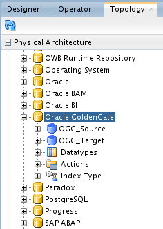 9.2 Reviewing the Oracle GoldenGate JAgent configuration in ODI Studio Oracle Data Integrator 12c can integrate with Oracle GoldenGate through the GoldenGate JAgents.