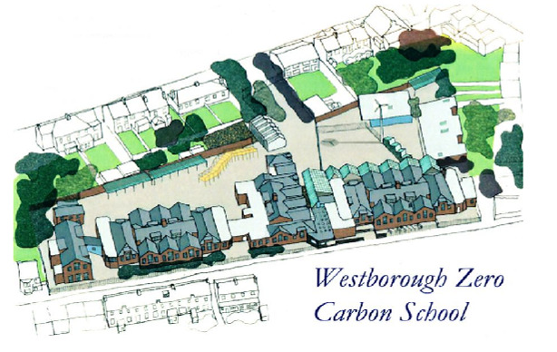 Its goal is to become a zero carbon school - the first of its kind in the UK.