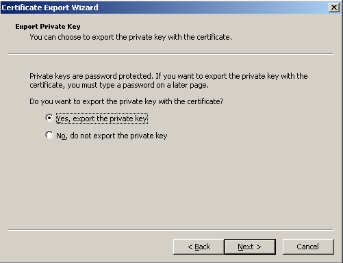 12. At the Console Root, expand the directory. Select Certificates > Personal > Certificates. Right-click on the certificate file and select All Tasks > Export.