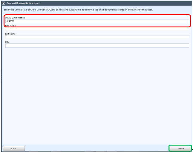 The Custom Queries window opens. Custom Queries can be easily designed and added should future needs require them.