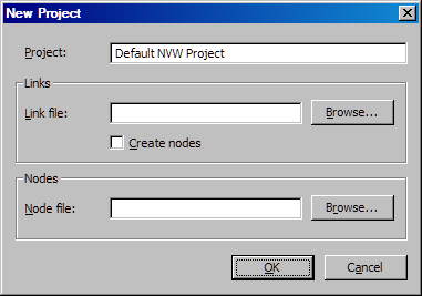 78 Chapter 8 Working with Projects Note: You can also open this dialog box by selecting New Network Visualization Project on the Welcome screen that appears when you first open SAS/GRAPH Network