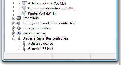 USB Driver Installation Manual USB Configuration To communicate with the Actisense device, the COM port number that Windows has allocated to the USB port needs to be determined.