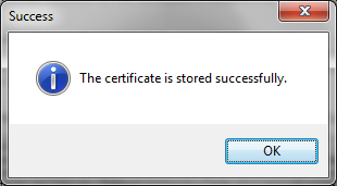 Choose Install Cert when prompted as follows.