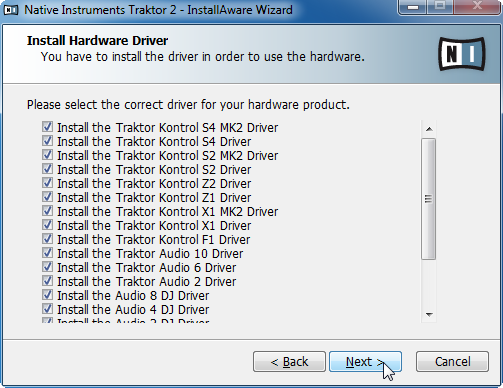 Software Installation Installation on Windows It is strongly recommended to install the TRAKTOR software to the default location.