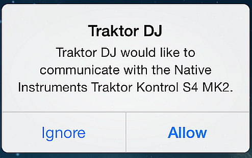 Using the S4 with Your ios Device Launching the TRAKTOR DJ App 5.6 Launching the TRAKTOR DJ App 1. Launch the TRAKTOR DJ app on your ios device by tapping its icon.