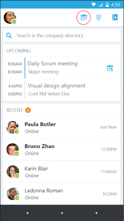 Page 3 Joining meetings There are several ways to join a Skype Meeting using.