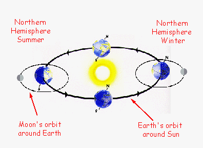 The Sun Earth orbits around the sun Completing its path every 365 days Earth s orbit is elliptical