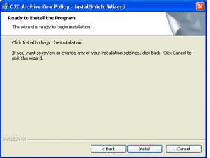6. Select the language you require and click Next. 7. The wizard is now ready to begin the installation.