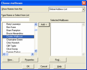 Mailbox Configuration You now need to define which mailboxes you wish to archive. Right click on the Mailbox Manager item in the left-hand list and select Add mailbox.