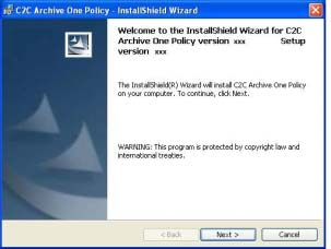 2. When the InstallShield Wizard welcome screen appears click Next.