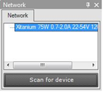 the device and the SimpleSet interface must touch. The scanned device will be shown in the Network panel. 7.