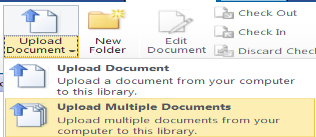 4.2 Create and Populate the Document Set Part One: Create the New Document Set Click the Document tab to open the Document Ribbon Click the New Document down arrow Select Document Set Enter the