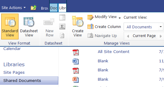 3.4 Create Custom Columns and Input Metadata Column One: College Click the Library tab to open the Library Ribbon Click the Create Column icon Specify settings for your column 1.