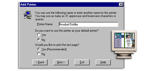 8 6) Name your new virtual printer. Click Next. 7) The next screen is the Properties menu.