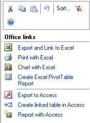Using the Excel task pane To perform some common Excel operations within SharePoint, you will first need to open the Excel task pane. Click on the Actions menu and select Task Pane.