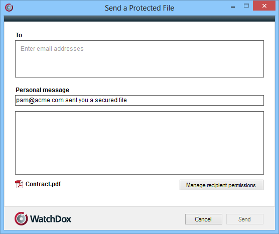 19 Sending protected files Note: You must be a workspace owner or contributor with download original permissions to perform this action.