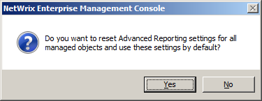 If the general settings were not yet configured the Advanced Reporting Configuration Wizard starts (see 3.5.
