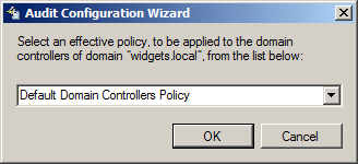 4.3 Audit Configuration Wizard The Audit Configuration Wizard is a tool that allows you to automatically configure all the necessary audit settings on your managed units.