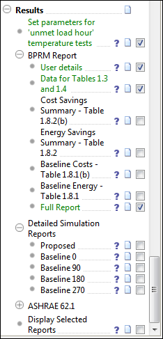 Results Set parameters for unmet load hour temperature tests. In this training example we will use the default values.
