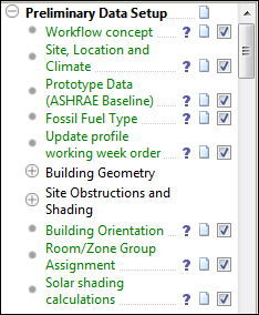 PRM navigator items Preliminary data setup Workflow concept This item gives general help about the PRM concept and an overview of the PRM navigator.
