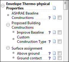 Envelope thermo-physical properties ASHRAE baseline constructions This will import ASHRAE baseline constructions to the project.