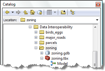 Exercise 2c: Automating quick conversion tools with ModelBuilder The Data Interoperability quick conversion tools can be used in ModelBuilder and connected to other geoprocessing tools to automate