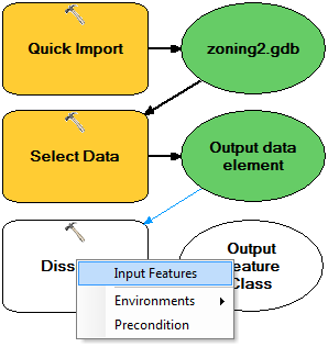 4. Double-click Select Data and confirm that the Child Data Element text box is set to zoning. The child data element is the feature class contained in the zoning2.