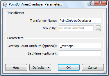 Overlap Count Attribute counts the number of point features contained in each polygon. This is useful for validating data and sending features to separate outputs for further processing.