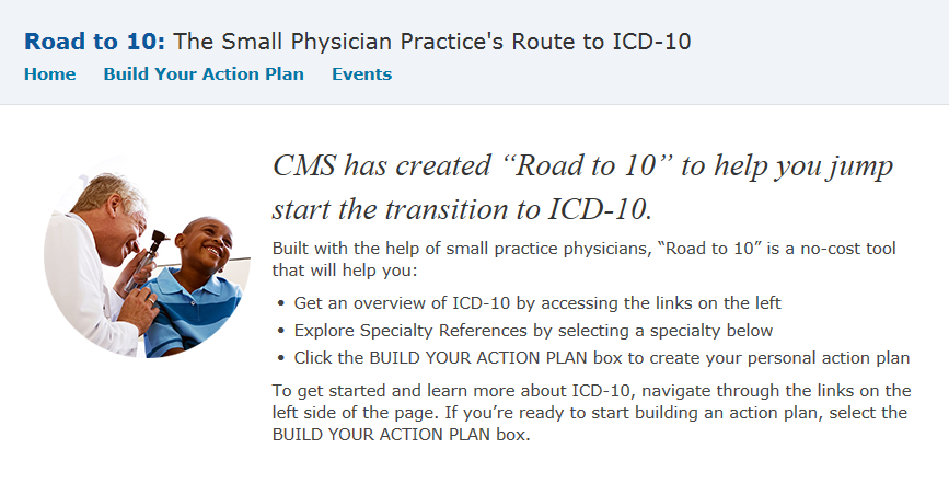 CMS will be sponsoring the www.roadto10.