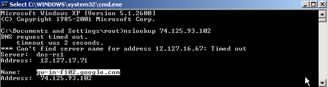 + Advance Concepts 18 IP Address - Internet Protocol (IP) address is a numerical label that is assigned to devices/computers hostname nslookup (naming server lookup) is a computer program