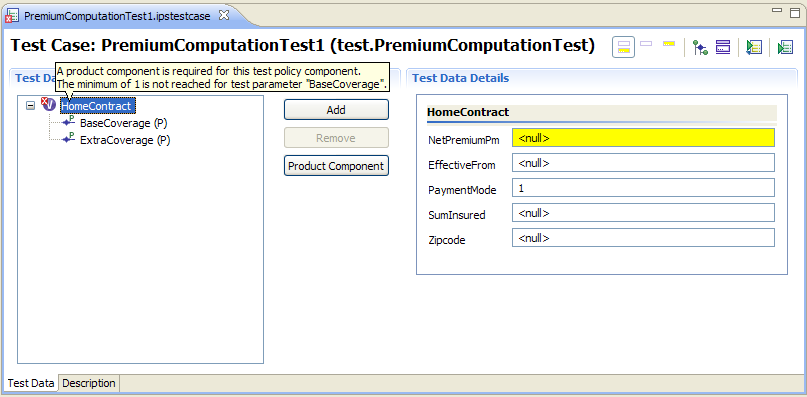 Abbildung 12: Neuen Testfall anlegen Figure 11: Creating a new test case After clicking Finish the Test Case Editor will open, displaying the structure of the test case on the left.