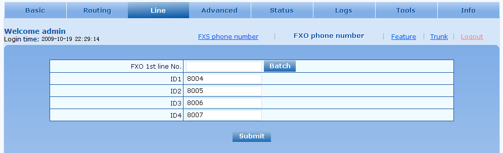 Binding Binding Number: A DID of the user/call group/auto attendant on the MX that all incoming calls will ring to Call ID