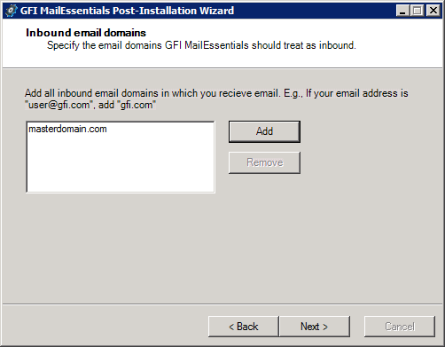 Screenshot 7: Proxy settings 3. In the Proxy Settings dialog, specify how GFI MailEssentials connects to the Internet.