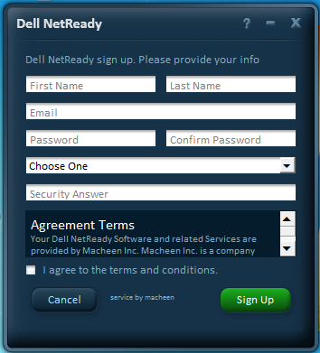 Quick Start Getting started with Dell NetReady requires 3 easy steps: - Signup for Service - Start a Session - AFTER your complimentary