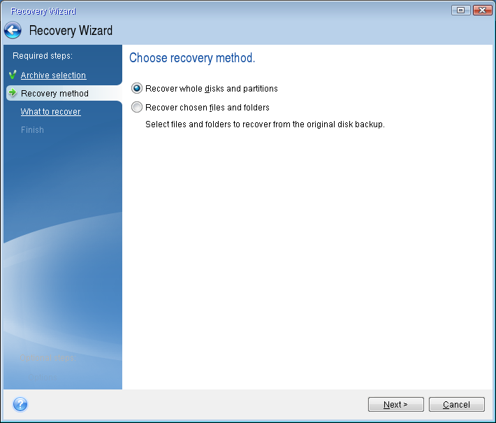 How to recover your system if your computer does not boot If Windows does not start, but you have a backup of your system partition or disk, you will be able to recover your system with a help of the