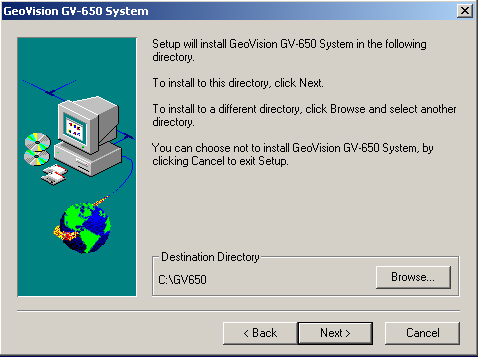 You should keep the GeoVision software separate from the drives you are using for storing the recorded data. As a good rule we install on the same drive as Windows.