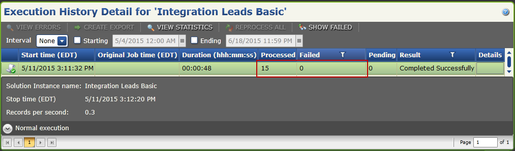Create A Basic Map Integration Leads Basic Solution Execution History Detail 29. Log into Salesforce and go to the Leads page.