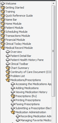 eprescribing 5. Review Help for steps to obtain medication history from the patient s Pharmacy Benefit Manager (cannot perform this in a training database.) Figure 1-2.