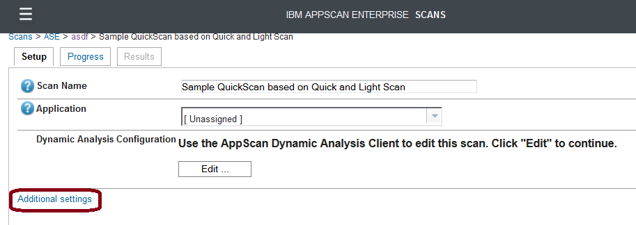 Click Create Job - you will see a message: Next, the AppScan Dynamic Analysis Client will close, since it has done its job. AppScan Enterprise will be active and available to you.