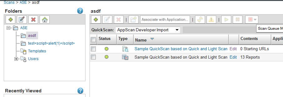 Indication that job has been successfully updated: Click OK, and the AppScan Dynamic Analysis Client will close.