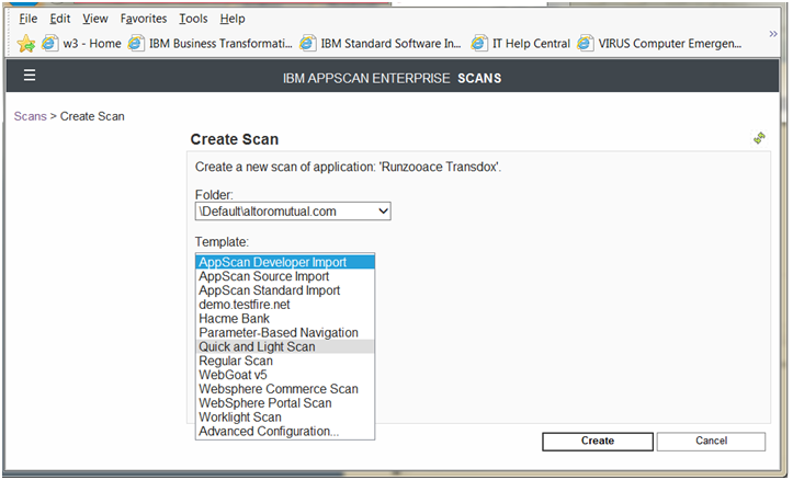 Create a Scan from an application in the Monitor View Create content scan job based on scan template To create a new scan based on a scan template, go to the Monitor view > Portfolio tab, and select