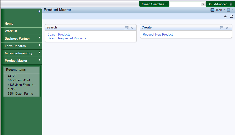 MIDAS CRM - Search Product Master 3.