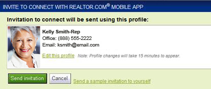 Inviting a single contact through the CRM desktop 1. View the details for the contact to invite. 2. Click Perform Action > Invite to Connect on realtor.