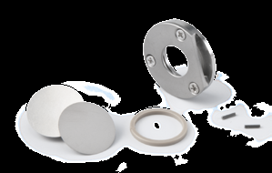 It consists of parts from stainless steel and a PEEK ring and allows timeand cost-reduced measurements with high precision.
