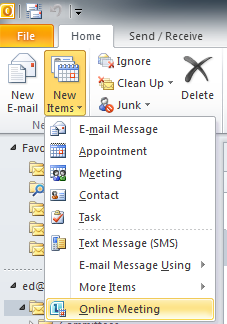 File Sharing You can easily share files with people through Lync 2010.
